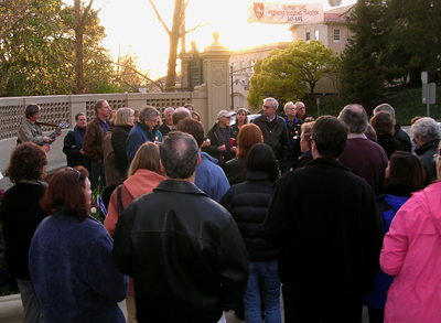 War Vigil, Piedmont, 19 March 2008