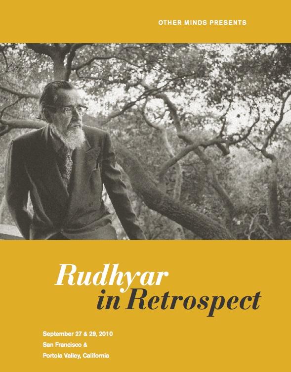 Rudhyar Retrospective Concerts Booklet